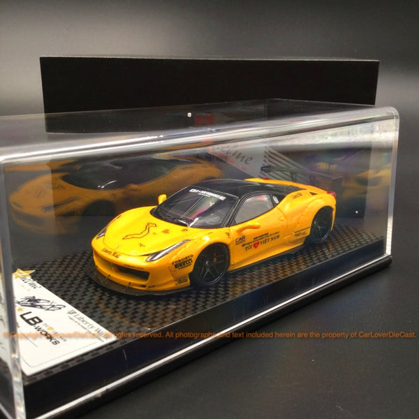 "Fuelme 1:43 LB works 458 Italia "" Giallo Modena"" with Kato San signature resin car model (FM43005-LM-B-02)available now"