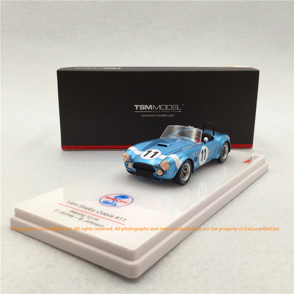 TSM 1:43 Shelby Cobra #11 1964 Sebring 12Hrs D Gurney/B.Johnson resin car model (TSM430348) available now
