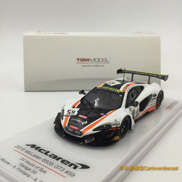 TSM-Model Mclaren 650S GT3 # 59 24 Hrs of Spa 2016 scale 1:43 (TSM430195) available now