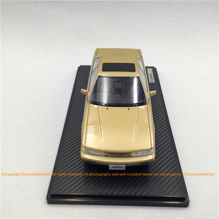 Ignition Model 1:18 Nissan Leopard (F31) Ultima V30TWINCAM TURBO Beige Metallic / Silver (IG1560) resin car model available now