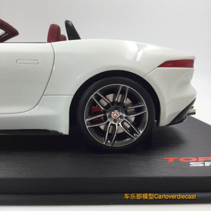 TopSpeed Jaguar F-Type R Convertible (Polaris White) Resin Scale 1/18 Limited 999 pcs  TS0038 available now