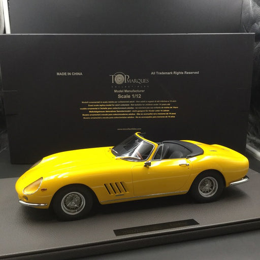 Top Marques - Ferrari 275 GTB /4  Spider (Yellow) 1:12 resin model (TM12-04F) available now