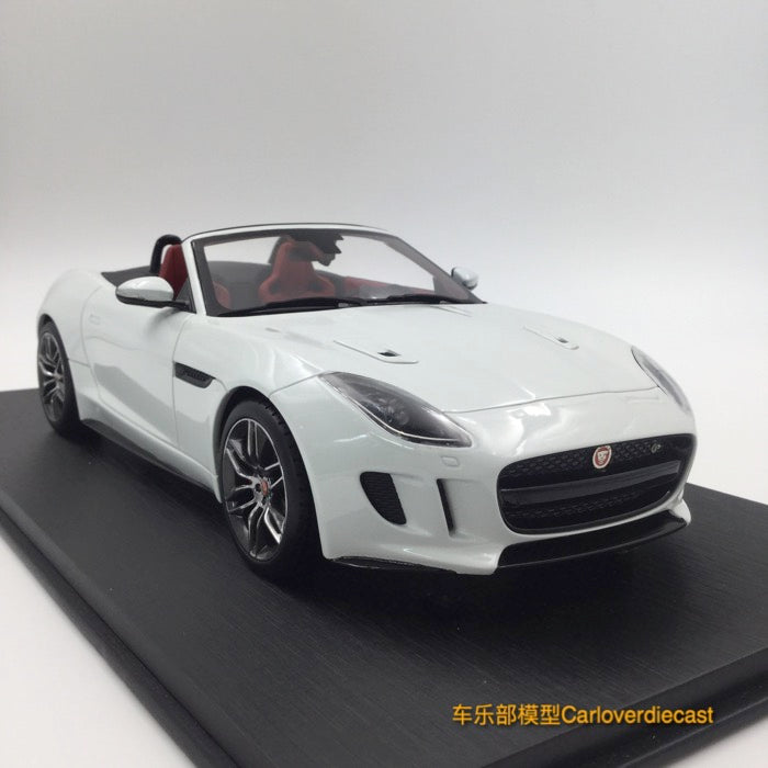 TopSpeed Jaguar F-Type R Convertible (Polaris White) Resin Scale 1/18 Limited 999 pcs  TS0038 Free Display Cover !