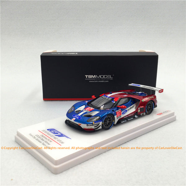 TSM 1:43 Ford GT GTLM #67 2018 IMSA Daytona 24 Hr. GTLM Class Winner Ford Chip Ganassi Team USA (TSM430404) resin car model available now