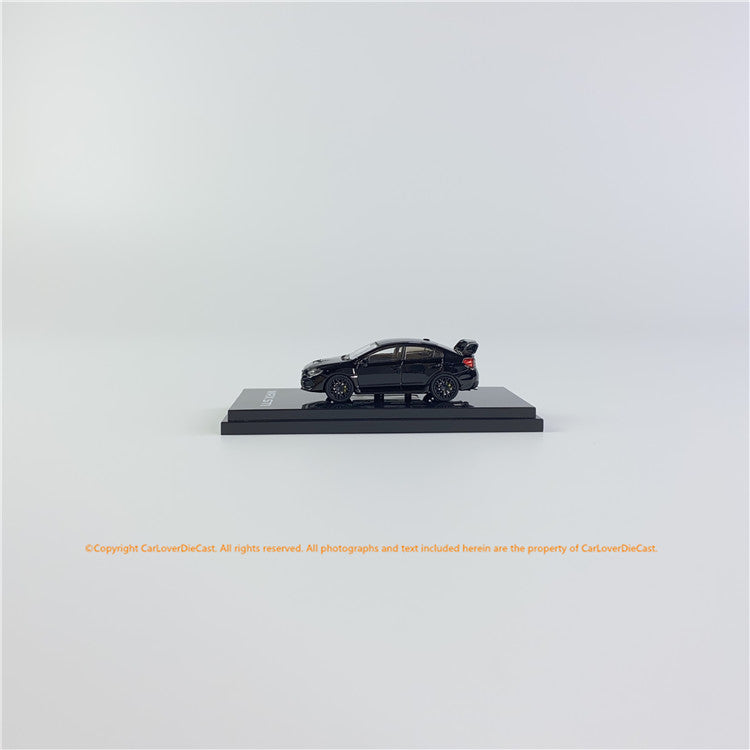Hobby Japan 1/64 SUBARU WRX STI Type S (VAB) Black(HJ641021BK) diecast car model