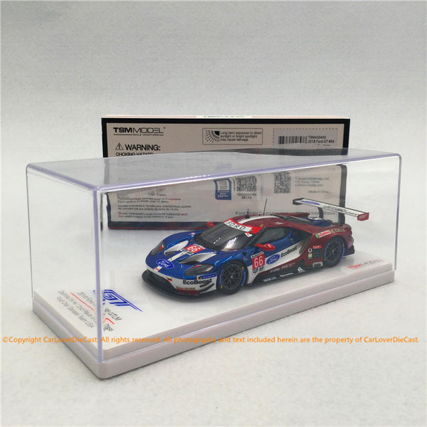 TSM 1:43 Ford GT GTLM #66 2018 Daytona 24 Hr. 2nd Place USA (TSM430405) resin car model available now