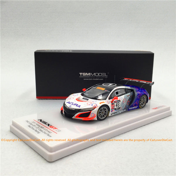 TSM 1:43 Acura NSX GT3 #43 Pirelli World Challenge Realtime Racing  (TSM430383) resin car model available now