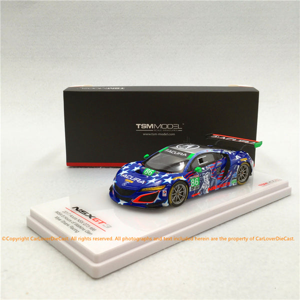 TSM 1:43 Acura NSX GT3 #86 Uncle Sam 2017 IMSA Championship  (TSM430384) resin car model available now