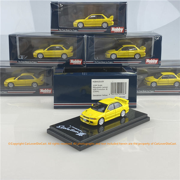 Hobby Japan 1:64 Mitsubishi Lancer GSR Evolution III (CE9A) HJ641010 (7 options) available