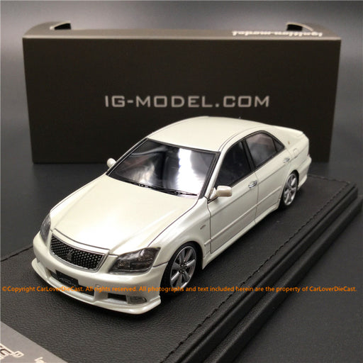 Ignition Model 1:43 Toyota Crown (GRS180) 3.5 Athlete White Pearl Crystal Shine *Normal-Wheel resin model  (IG1501)