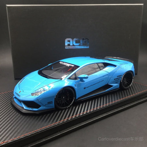 (ACM) Huracan LB Works full open  Scale 1:18 (baby Blue interior Red)  Limited Edition