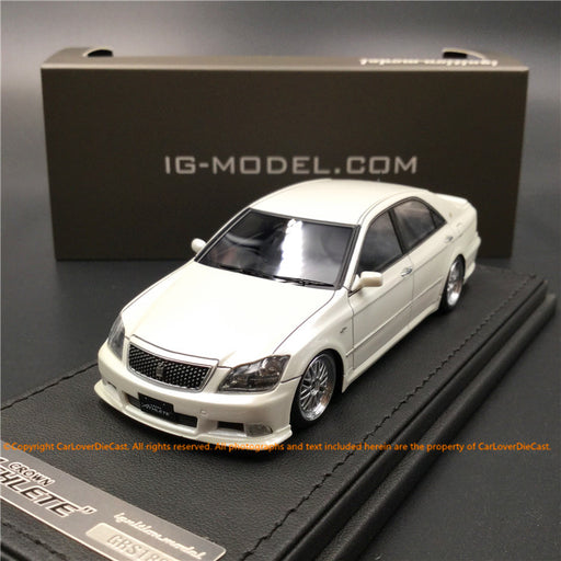 Ignition Model 1:43 Toyota Crown (GRS180) 3.5 Athlete Pearl White *BB-Wheel resin model  (IG1499) available on Jan/Feb 2019 Pre-order Now (pre-order)