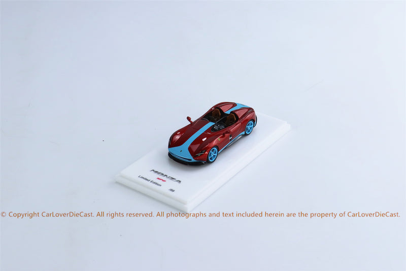SP Model 1:64 Monza SP2 Red with Blue Strip Limited 99 pcs (SP64002RBS) Resin car model available on MAY 2021 pre-order now