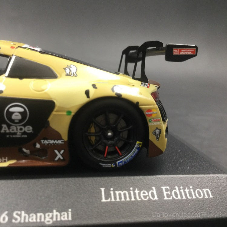 Tarmac Works x Aape  - Audi R8 LMS Scale 1:43 HK Marchy Lee Shanghai cup 2016 (TM013)