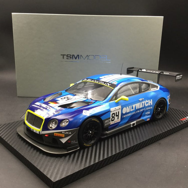 TSM Model -  Bentley Continental GT3 #84  Blancpain GT Series Sprint Cup Moscow City Racing 2015  Bentley Team HTP resin scale 1:18 (TSM181013R)