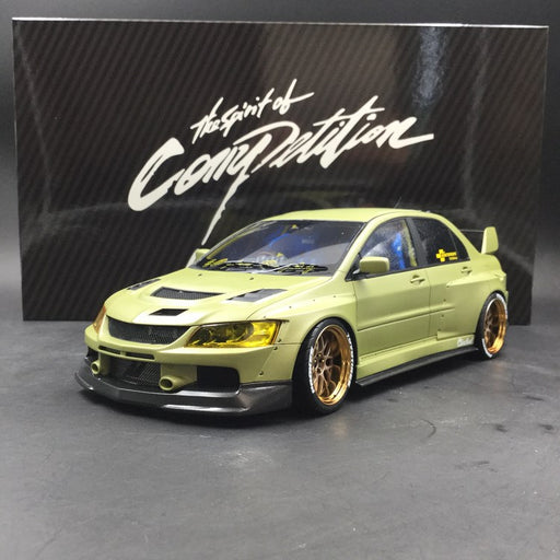 AGU 1:18  Mitsubishi Lancer EVO IX CLINCHED Wide body Resin model (Matt Green / Flash Green)  AGU-018/19CR available  Now
