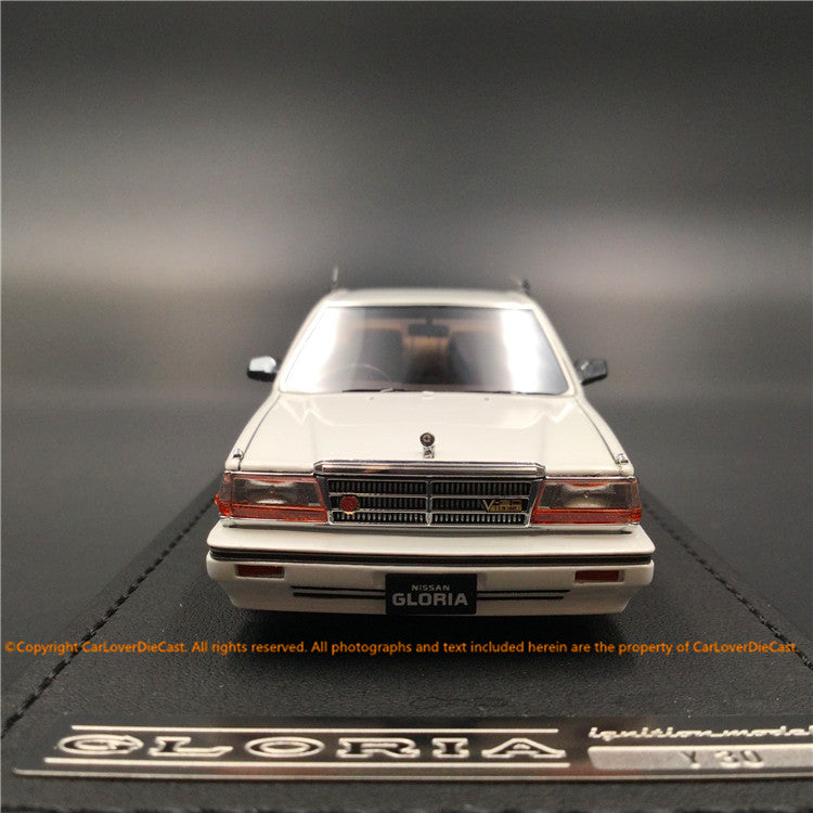 Ignition Model 1:43 Nissan Cedric (Y30) 4Door Hardtop Brougham VIP  White (FOR-wheel) resin model (IG1308) available  now