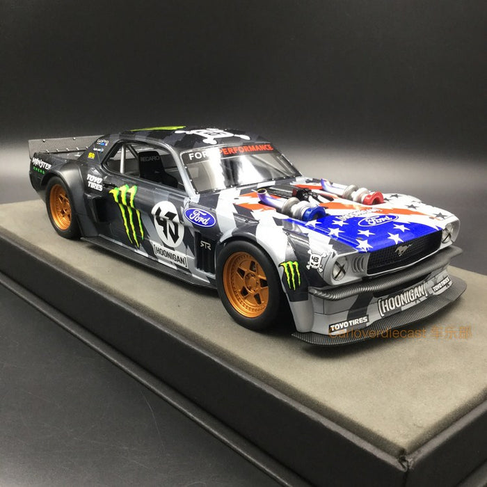 Top Marques - Ford Mustang 1965 Hoonigan star & Stripes resin scale 1:18 (TOP48B)