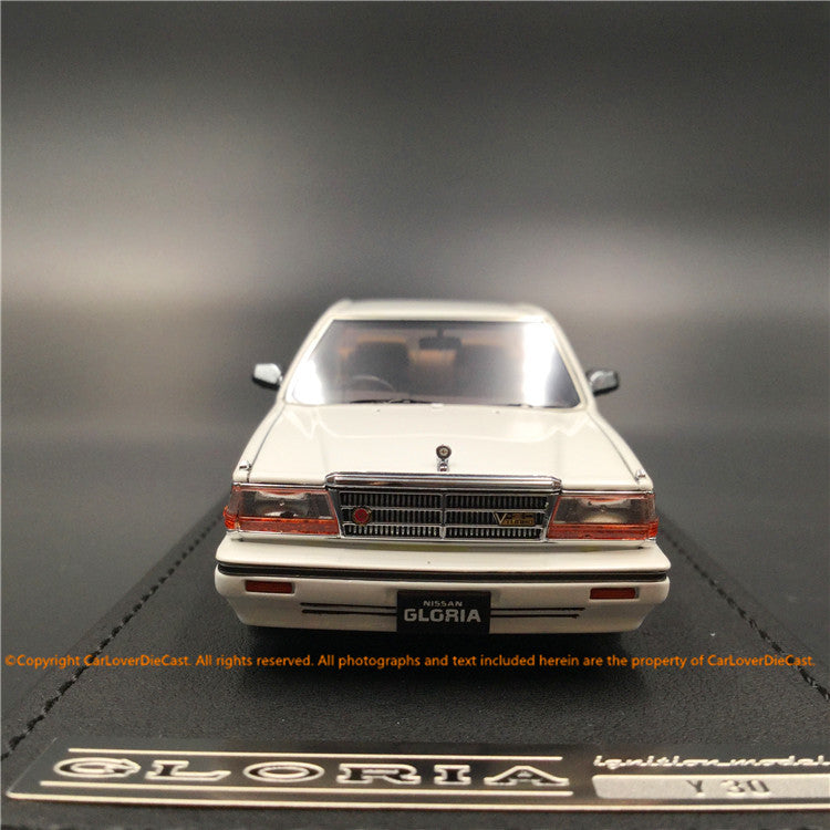 Ignition Model 1:43 Nissan Cedric (Y30) 4Door Hardtop Brougham VIP  White (BB-wheel) resin model (IG1307) available  now