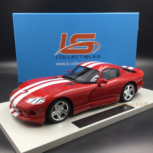 LS Collectibles - Dodge Viper GTS 2002 metallic red with white stripes resin scale 1:18 (LS16B)