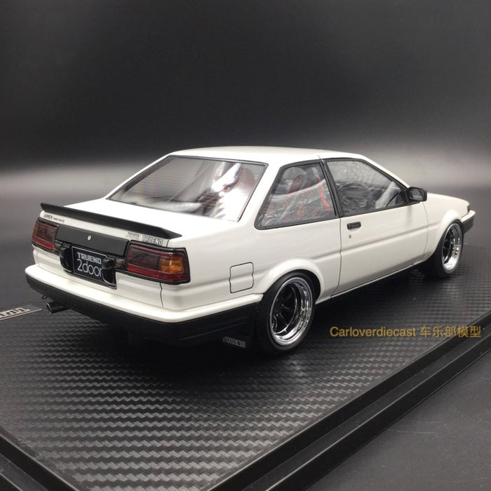Ignition Model Toyota Sprinter Trueno (AE86) 2Door GT Apex White  (W-Wheel) resin Scale 1:18 (IG0549)