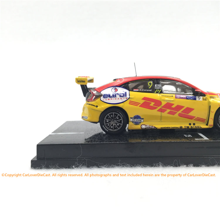 Tarmac works 1:64 Honda Civic Type R TCR  WTCR Race of Macau 2018  Tom Coronel (diecast)  T64-029-18WTCR09 available Now