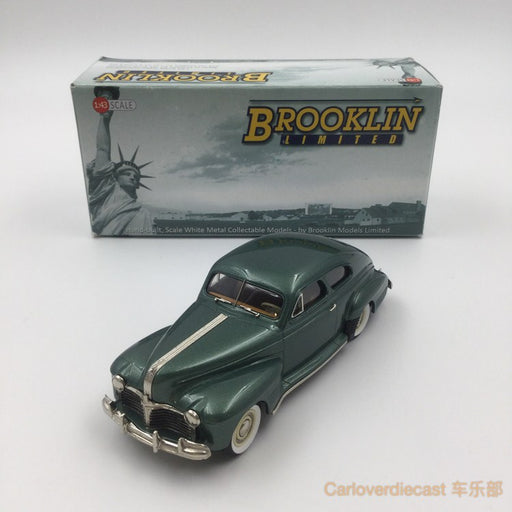 "Brooklin Models -  1941 PONTIAC STREAMLINER ""TORPEDO"" SEDAN coupe HandMade White Metal Scale 1:43 Available Now (BML013)"