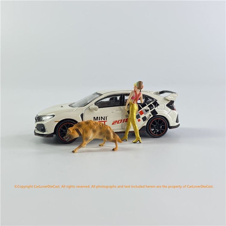 1:64 clown Girl + Wild Dog  (clown64girlDog) Available now
