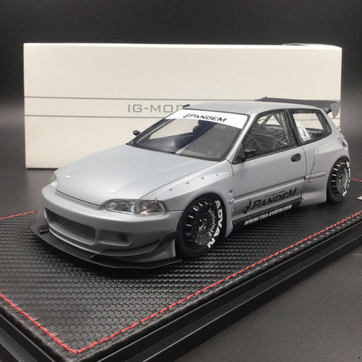 Ignition Model 1:18 Pandem Honda Civic EG6 (Air Force Grey) CarLoverDieCast Exclusive Edition Limited (IG1624) 100 pcs Resin Model available on Sep Pre-order period free with display case