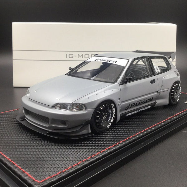 Ignition Model 1:18 Pandem Honda Civic EG6 (Air Force Grey) CarLoverDieCast Exclusive Edition Limited (IG1624) 100 pcs Resin Model available now