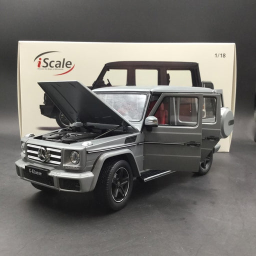 iScale 1:18 Mercedes-Benz G Klasse (Mat Grey) Diecast Full Open available now
