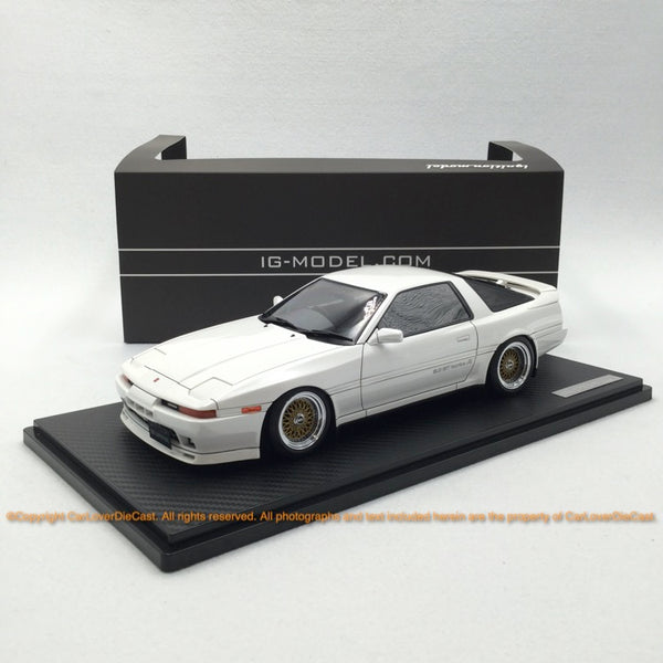 Ignition Model 1:18 Toyota Supra 3.0GT turbo A (MA70) Pearl White (IG1737) resin car model available Now