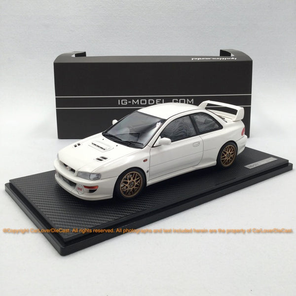 ignition Model 1:18 SUBARU Impreza 22B-STi Version (GC8改)  White  ※Normal (IG1635) resin car model available now