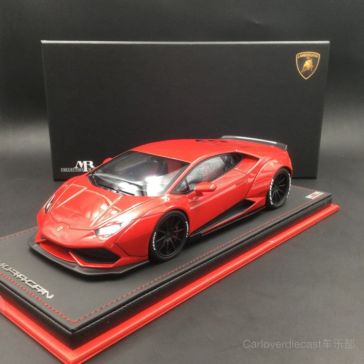 (MR Collection) Lamborghini Huracan After Market resin scale 1:18  in Rosso Mars  (LAMBO024A) Limited 99pcs