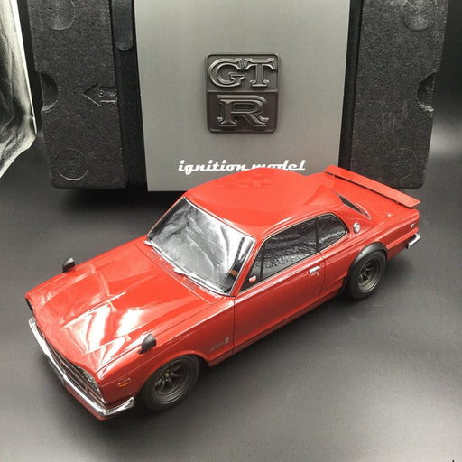 Ignition Model 1:12 Nissan Skyline 2000 GT-R (KPGC10) Red Watanabe Wheel resin model (IG0497)