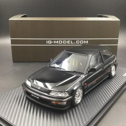 Ignition Model 1:18 Honda Civic (EF9) SiR Black Mugen Wheels Resin Model (IG1289) free display cover