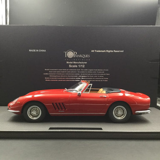 Top Marques 1:12 Ferrari 275 GTB/4 Red Spyder with Tan Interio (TM12-04H) available now