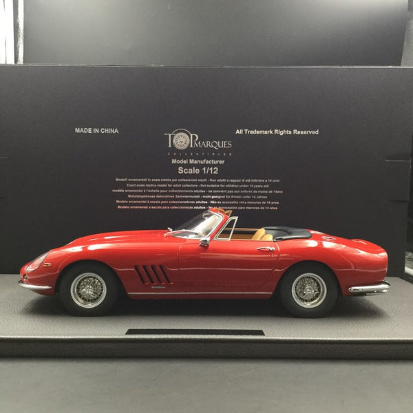 Top Marques 1:12 275 GTB / 4 Red Spyder avec Tan Interio (TM12-04H) disponible maintenant