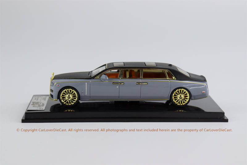 SMALLCARART 1:64  RR Phantom Generation 8 EWB Cement gray / black (SK164007GB) Diecast Car available on the end of April 2021  pre-order now