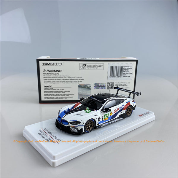 TSM 1:43 BMW M8 LMGTE #82  2018 WEC Fuji 6 Hr. 2nd Place  BMW Team MTEK  (TSM430437) resin car model