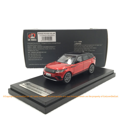 LCD 1:64 LandRover RangeRover VELAR (Red) Diecast (LCD64001RE) available now