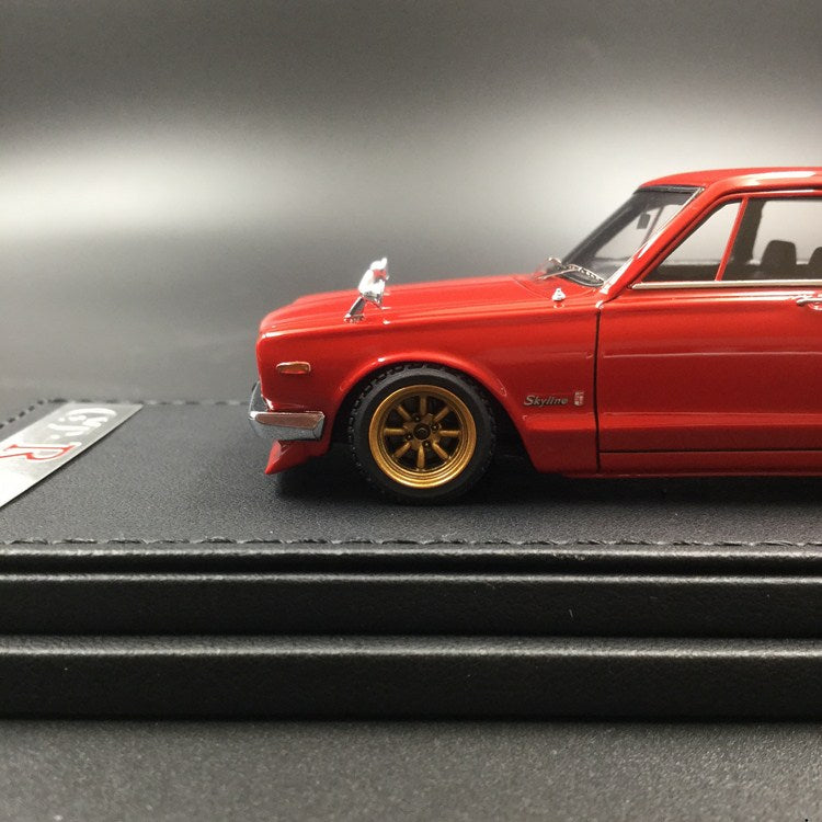 Ignition Model 1:43 Nissan Skyline 2000 GT-R (PGC10) Red resin model (IG1597) available now
