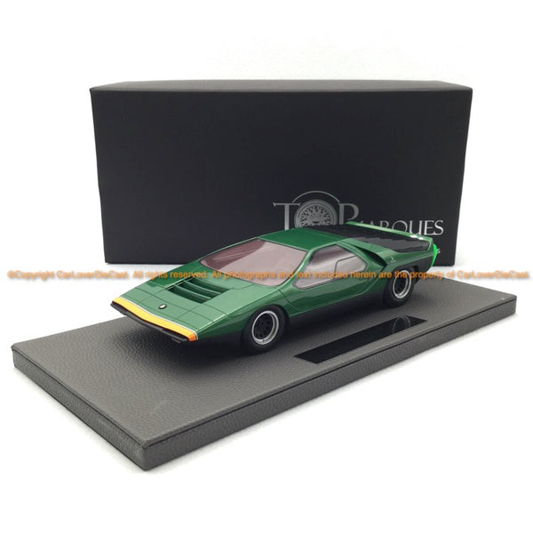 Top Marques 1:18 Alfa Romeo Carabo green  Resin car model (TOP84A)
