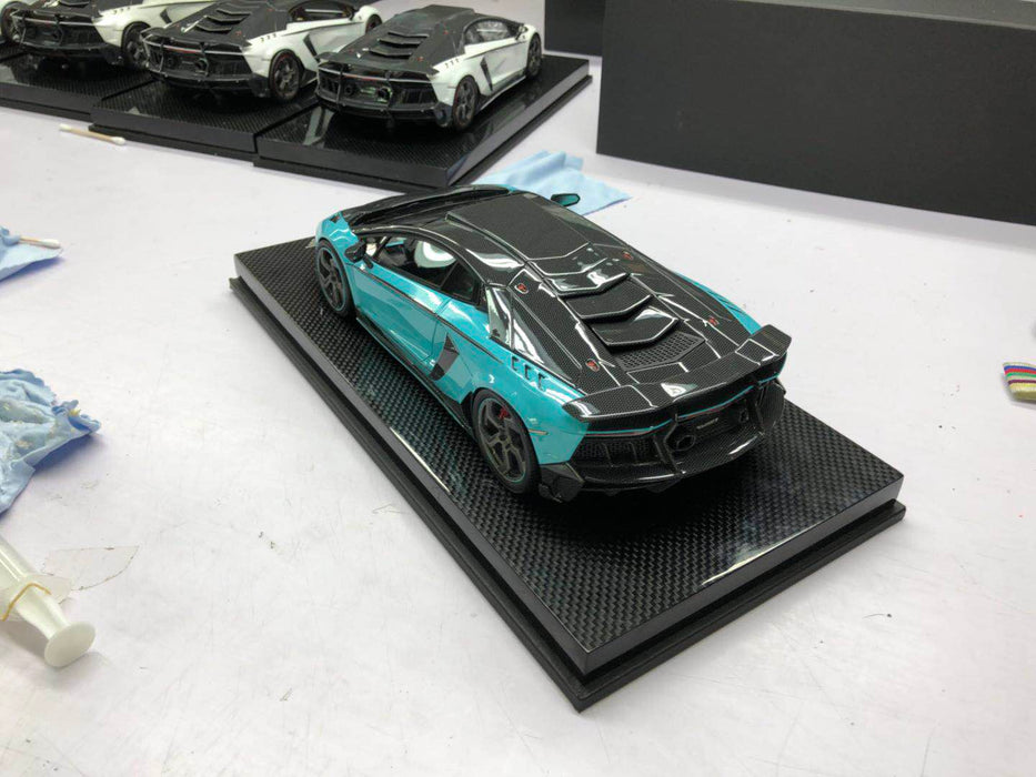 Mansory 1:18 Carbonado Resin in Baby Blue & carbon look  with carbon base and display limited 30 pcs available on May 2018 Pre-order now