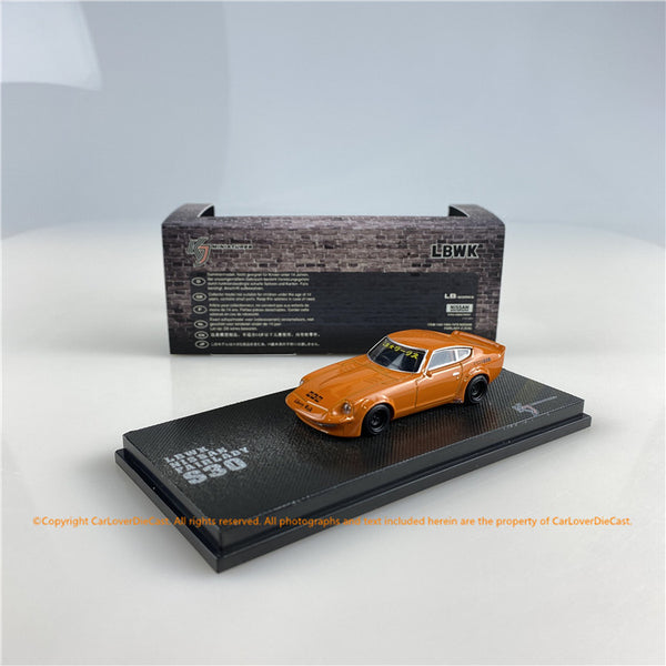 KJ Miniatures 1:64 LBWK Nissan FairLady S30 KJ64003OR(KJ002-1/KJ002-2) (orange / Metallic Red)    diecast car model available now