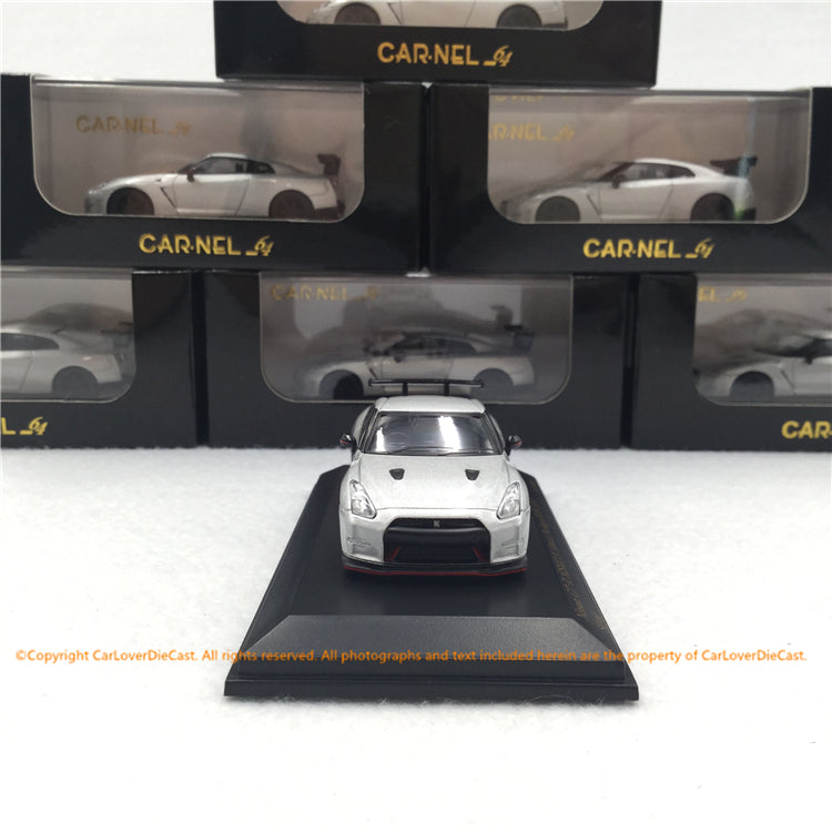 CARNEL  1:64 Nissan GT-R Nismo N Attack Package (R35) 2015 Silver (CN640018) available now