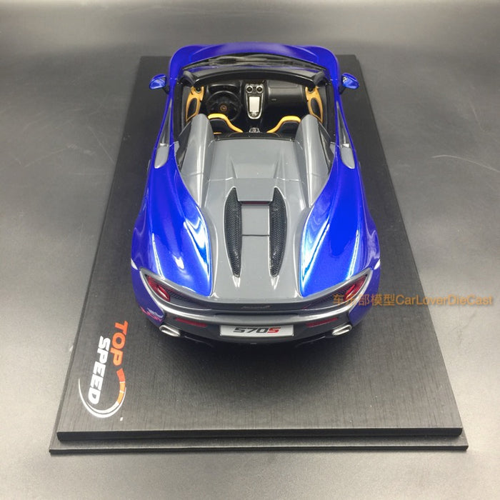 (TopSpeed) McLaren 570S Spider (Antares Blue) Scale 1/18 Resin Model Limited 999 pcs TS0124 available now