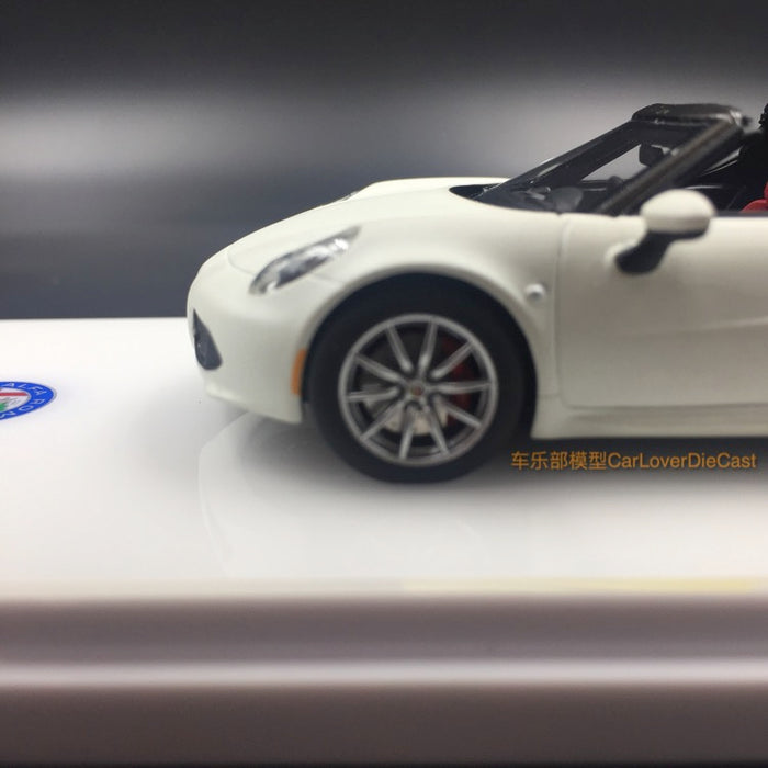 TSM-Model Alfa Romeo 4C Spider Matte White Resin Scale 1:43 (TSM430141) Available  now