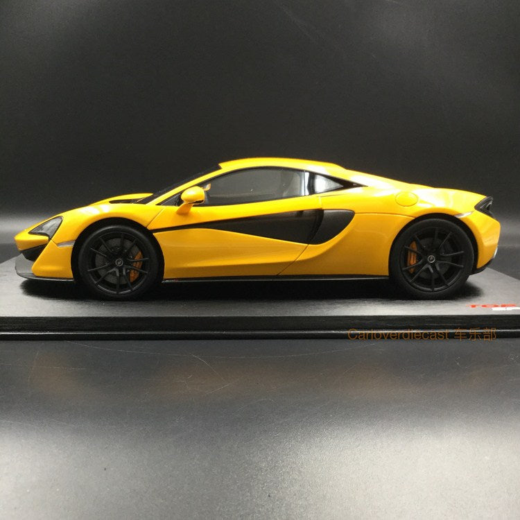 TopSpeed Mclaren 570S (Volcano Yellow)  Resin Scale 1/18 Limited 999 pcs  TS0046