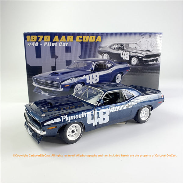 ACME 1:18 #48 1970 Plymouth Trans Am Cuda (A1806119) All-Opened Diecast Car Model